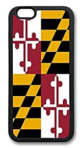ACESR Maryland Stylish iPhone 6 Case TPU Back Cover Case for Apple iPhone 6 4.7inch Black by mcsharks
