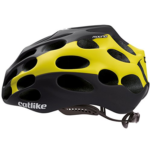 CATLIKE Mixino SV Bike Helmet, Black/Yellow, Large