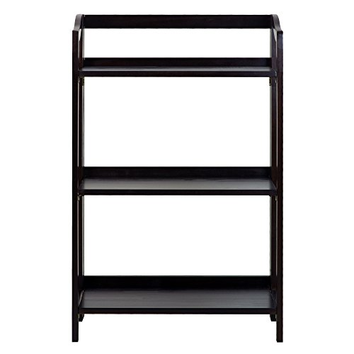 Casual Home 337-33 Stratford 3-Shelf Folding Bookcase-Espresso