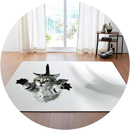 Party Decoration Rugs 3D Lovely Cat Carpets s Room Play Mat Flannel Memory Foam Area Rug Carpet for Living Room,No-5,152x99cm ()