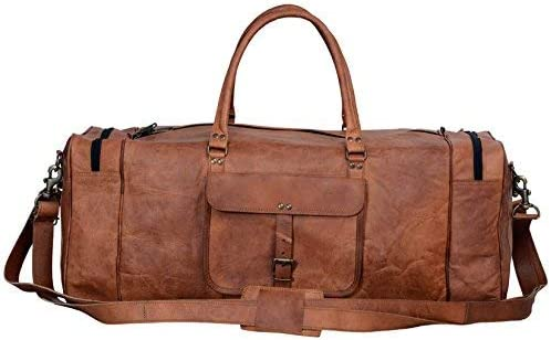 Leather Duffel Bag Komal's Passion