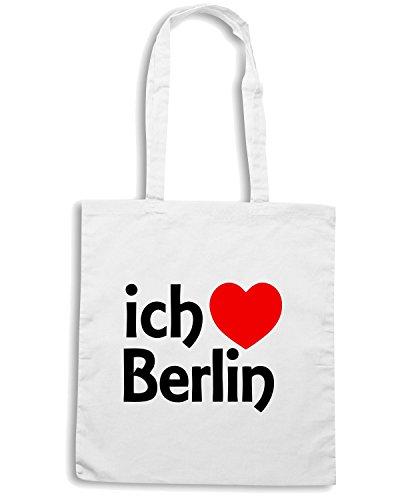 T-Shirtshock - Bolsa para la compra TLOVE0001 berlin Blanco