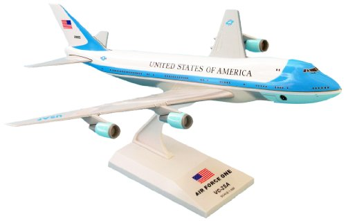 SkyMarks SKR041 Air Force One Boeing 747-200 VC25 1:250 Scale Desktop Model with Stand (Great Planes Airplanes Model)