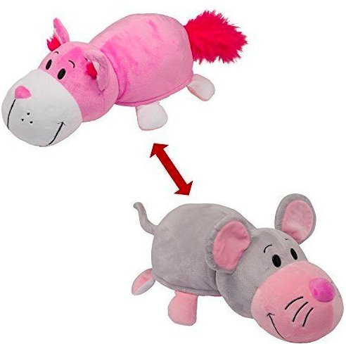 Price comparison product image 24 Inch Jumbo Mouse and Pink Cat Flipazoo with 2 Extra Large Sides of Fun for Everyone