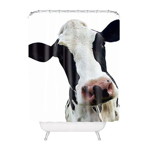 Funny Cow Head Polyester Fabric Bathroom Shower Curtain (Funny Cow)