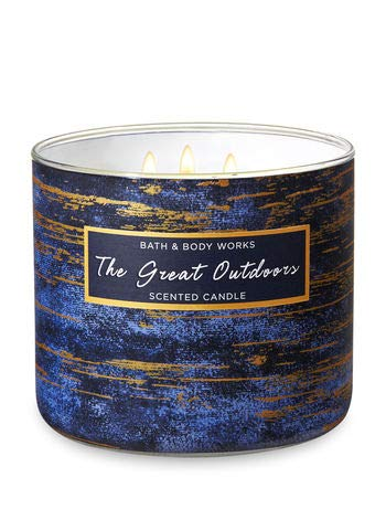 Bath and Body Works White Barn The Great Outdoors 3 Wick Candle 14.5 Ounce New For 2018