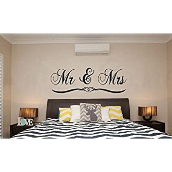 Dnven  Black Large 59 x 20   Mr and Mrs Husband and Wife. Amazon com  Best Friends for Life Husband and Wife   Bedroom Love