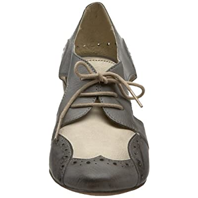 Boutique 9 Women's Beldina Lace-Up Pump, Grey/Lite Natural, 6 M Us | Pumps
