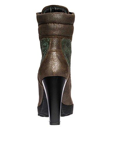 HOGAN Botines cuero auténtico Mujer Verde