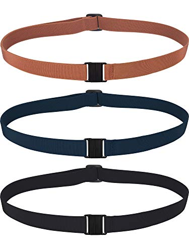 Jovitec 3 Pieces Stretch Belt Adjustable Invisible Elastic Belt No Show Web Belt Family Waist Belt for Women Men Kids