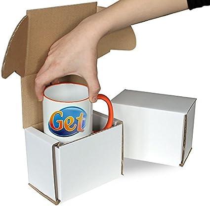 Caja de cartón Cajas de taza original, prueba de Smash, cajas de regalo, cajas de cierre de taza de taza: Amazon.es: Oficina y papelería
