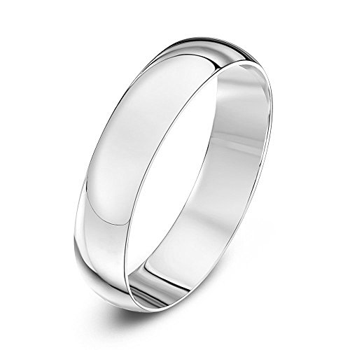 NYC Sterling 6MM High Polish Plain Dome Tarnish Resistant Sterling Silver Wedding Band (Sterling-Silver, 9)