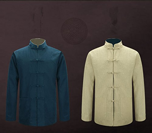 Tang Suit National Costume Individuality Retro Jackets Coats Men's dress Full dress Gentleman by BAOLUO-Tang Suit (Image #2)