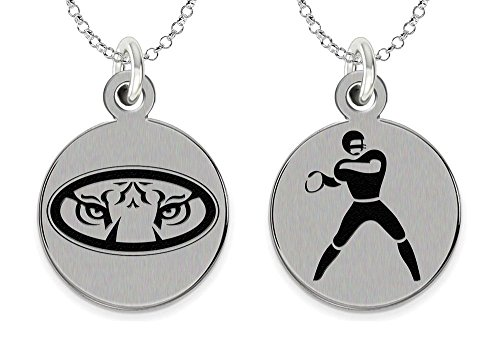 - College Jewelry Auburn University Tigers Stainless Steel Football Charm