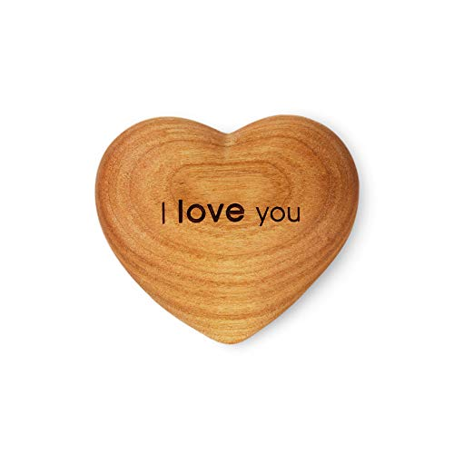 Black Forest Wooden Heart I Love You Anniversary Wedding Birthday Handmade Gift in Germany (I Love You Engraving)