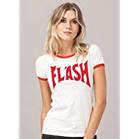 Camiseta Ringer Feminina Queen Flash Red