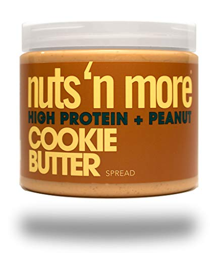 Nuts 'N More Cookie Butter Peanut Spread, High Protein Nut Butter Snack, Low Carb, Low Sugar, Gluten Free, All Natural, 16 oz Jar (Best No Bake Cookies With Peanut Butter)