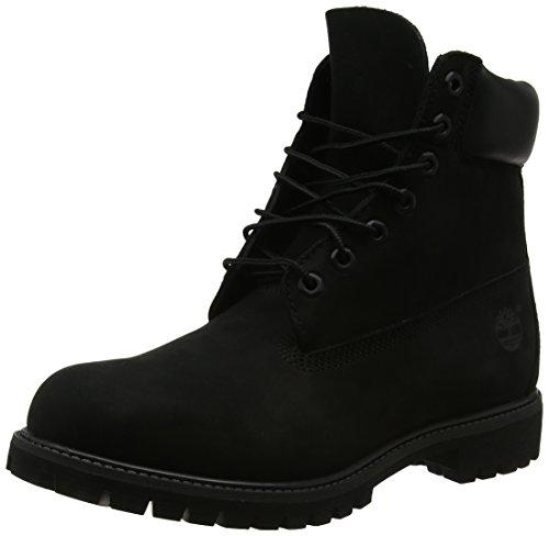 Timberland Men's 6 inch Premium Waterproof Boot, Black Nubuck, 11 W US