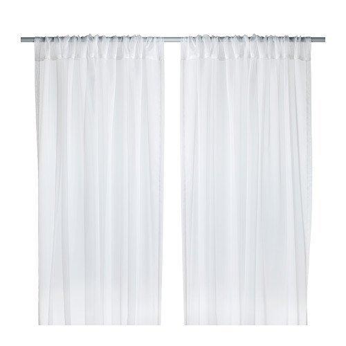 Ikea 902.323.31 Teresia Sheer Curtains, White, 1-Pair