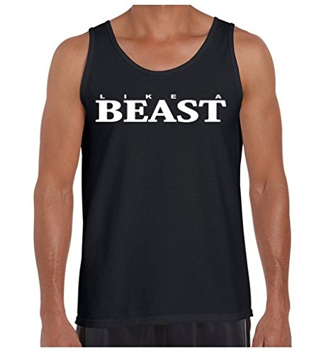 Awkwardstyles Men's Like A Beast Tank Top Funny Party Matching Couple Tank S Black