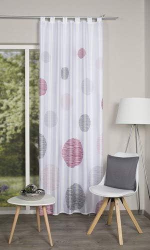 Rose Home Fashion Schlaufenschal Dekostoff Digitaldruck Borden Polyester 245 x 120 cm