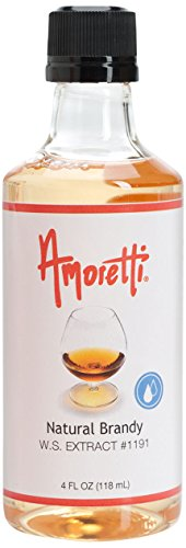 Amoretti Natural Brandy W.S Extract, 4 Ounce (Pie Pecan Cheesecake)