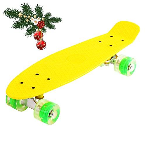 Penny ABEC – 7 – Monopatín skate board con ruedas LED iluminación