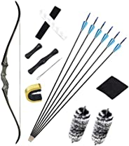 """NC93 Black Hunter Takedown Recurve Devil May Cry Bow Archery Set 60"""" Archery Hunting Bow for Hunting Targ"""