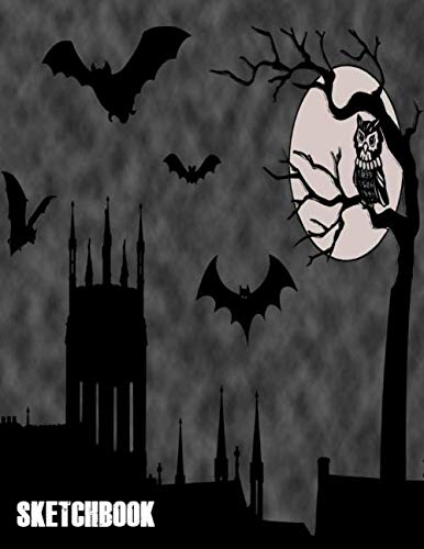 Halloween Drawing Pages (Sketchbook: Cute Halloween Gift Book , large 8.5 x 11in pages for drawing doodling sketching or making)