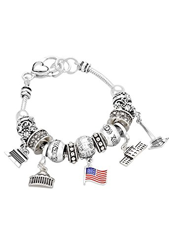 Rosemarie Collections Women's Washington DC Bead Charm Bracelet - Washington Macy's