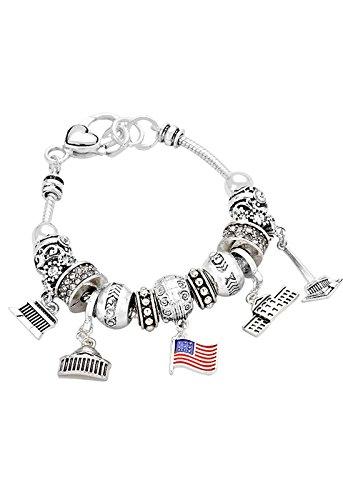 Rosemarie Collections Women's Washington DC Bead Charm Bracelet - Macy's Washington