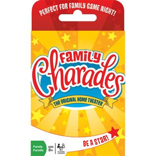 Family Charades Card Game by Outset Media - Travel Friendly Family Charades Game - Includes Over 300 Charades - Perfect for Parties, Vacations, and Holidays - Ages 8+