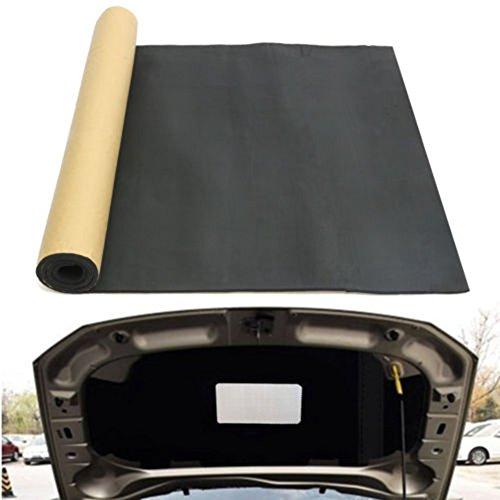 - MOIAK 200x100cm Car Exhaust Muffler Insulation Foam, Car Bonnet Self-Adhesive Mat Fire-Retardant Against Friction(Black)