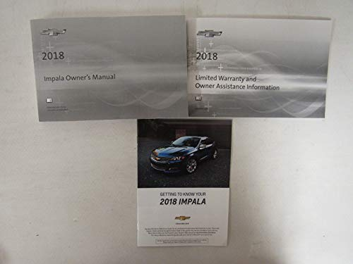 2018 Chevy Chevrolet Impala Owners Manual Guide Book