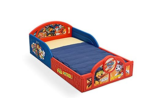 Delta Children Deluxe Nickelodeon Paw Patrol Toddler Bed with attached guardrails - Little One Drawer Pulls