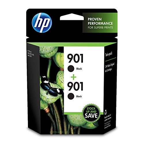 - HP 901 Black Ink Cartridge (CC653AN), 2 Cartridges (CZ075FN)