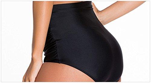Minetom Bañador De Dos Piezas Mujer Bikini Top Shorts Elegante Cómodo Beach Swimwear La Decoración Del Bowknot Halter Flor2