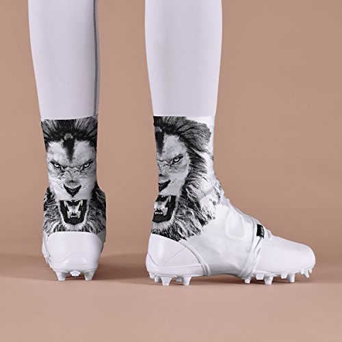 White Lion Roar Spats/Cleat Covers