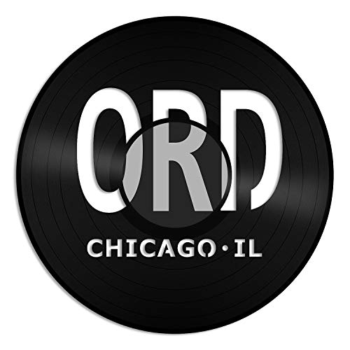 VinylShopUS - Chicago O'Hare Airport ORD Vinyl Wall Art with Out Framed Best Gift for Office and Bedroom | Home Decoration (Chicago Ohare Airport)