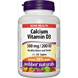 Webber Naturals Calcium Carbonate 500mg with Vitamin D3 200iu, 275 Tabs Bonus Pack