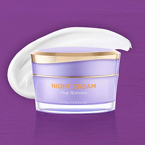41r5AwVWOVL - Overnight Miracle Glow Night Cream - Anti-Aging Retinol, Moisturizing Hyaluronic Acid, Jojoba Oil & Squalane Help Hyperpigmentation, Oil and Acne-Prone Skin. Vegan And Clean Skin Care.