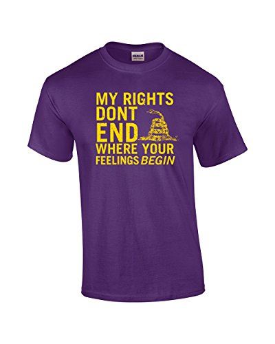 Rights Don't End Where Feelings Begin 2Nd Amendment Adult T-Shirt-Purp Purple