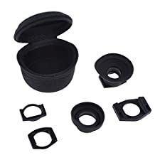 Neewer 1.08x-1.3x-1.52x Magnifier Eyepiece Eyecup View Finder with Adapters for Canon Nikon Pentax Olympus Sony Fujifilm Samsung DSLR such as Nikon D40 D50 D70 D70S D80 D90 D100 D200 D300 D500 700 D3000 D1H D1X D2H D2X FA F6 F75 F80 F801S F90 F100, Canon 40D 60D 300D 350D 400D 450D 500D 1000D 10D 20D 30D 5D