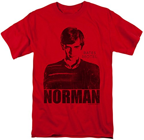 Bates Motel - Mens Norman T-Shirt, Large, Red