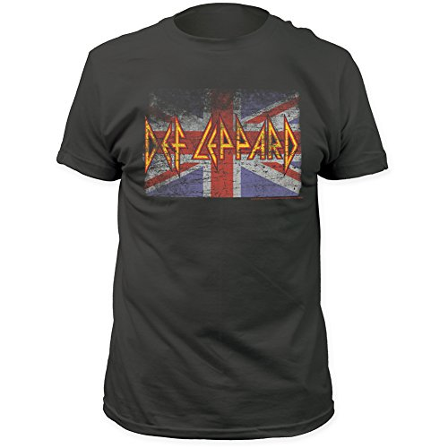 Def Leppard Union Jack - Def Leppard Union Jack Fitted Jersey tee Charcoal Large