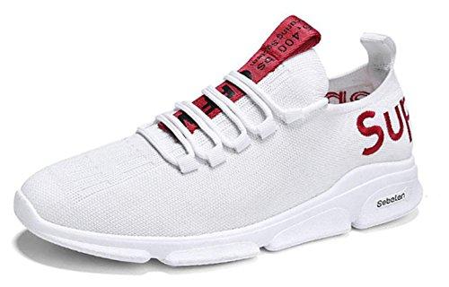 Un Bit 2018 Hommes Refroidissent Chaussures De Toile Baskets Freizetschuhe Mode Casual Blanc