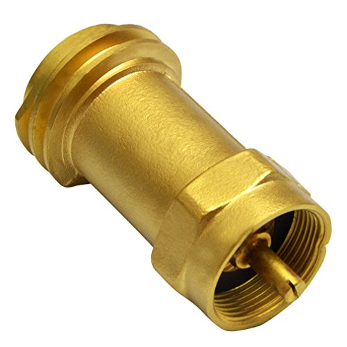 Onlyfire Disposable Propane Cylinder Bottle Adapter- 1LB Propane Tank for Gas Grill Connector, Quality Brass