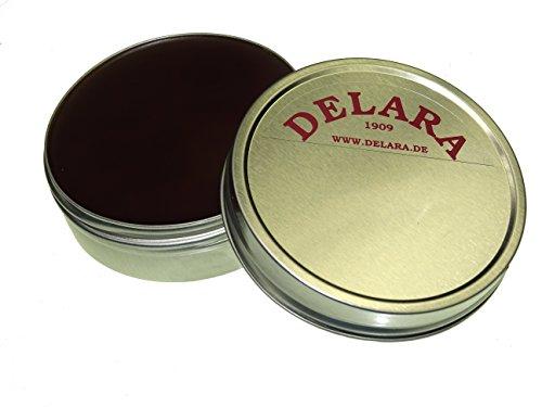 DELARA Lederbalsam mit Bienenwachs, braun - Made in Germany
