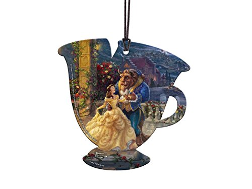 Trend Setters Disney Beauty and The Beast Chip Teacup Shaped Hanging Acrylic -