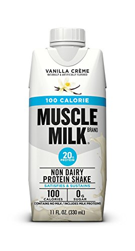 Muscle Milk 100 Calorie Protein Shake, 20 Grams Protein, Vanilla Creme, 12 Count (Best Tasting Non Dairy Milk)